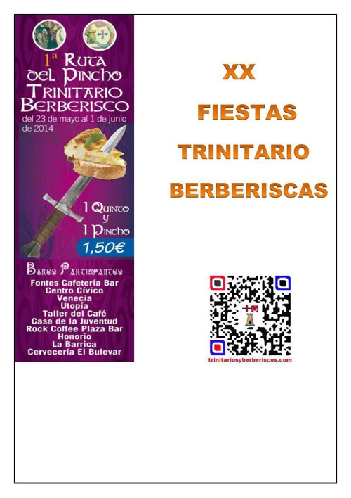 RUTA DEL PINCHO TRINITARIO-BERBERISCO 2014