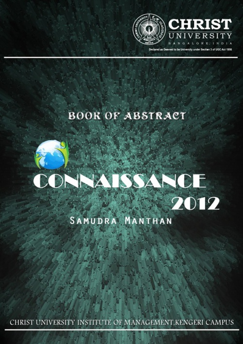 Connaissance 2012 - Book Of Abstracts