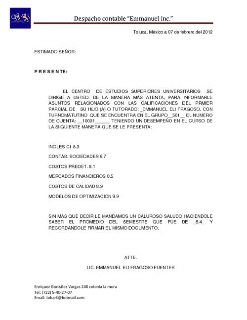 2do ejercicio de correspondencia emmanuel fragoso f. 601-C