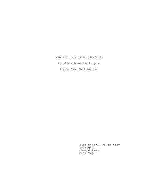 The military Code (draft 2)