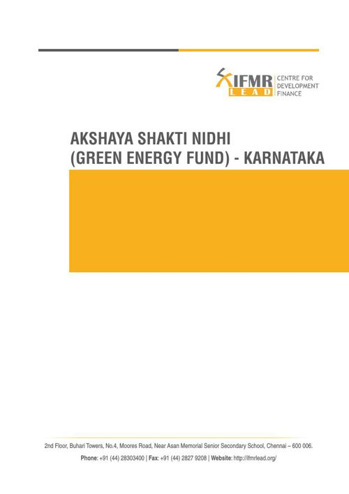 Green Energy Fund (Akshaya Shakti Nidhi) in Karnataka
