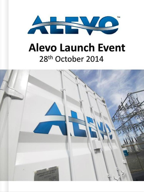 Alevo- Launch Book