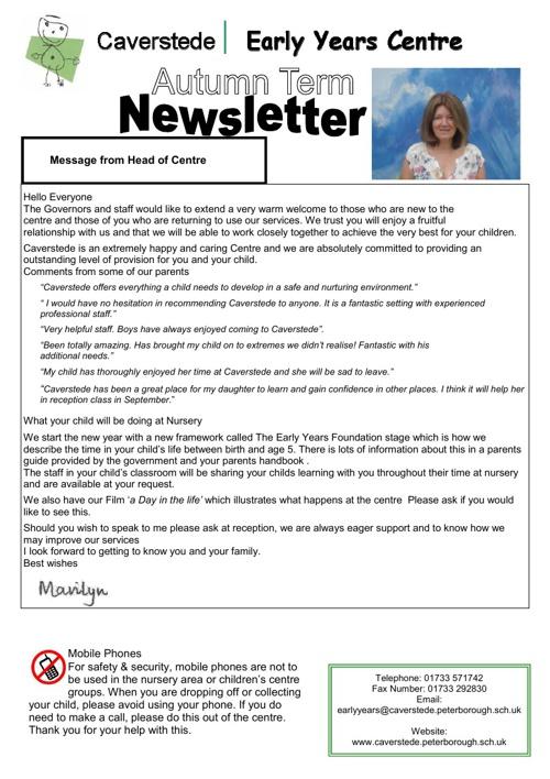 Autumn newsletters 2012