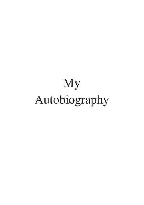 my autobiography