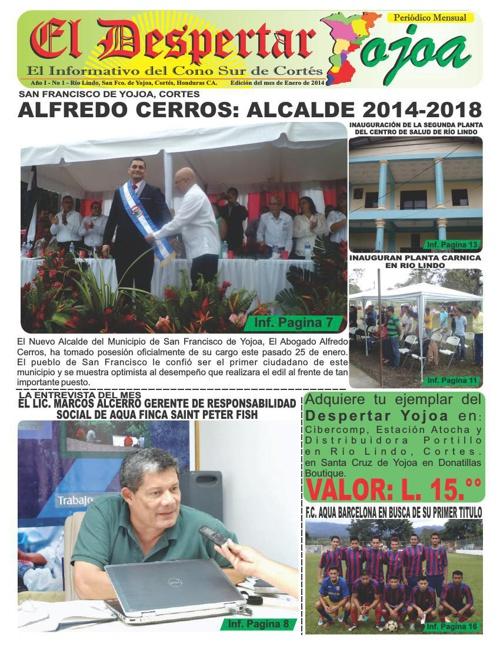 EL DESPERTAR YOJOA, PRIMERA EDICION ENERO 2014