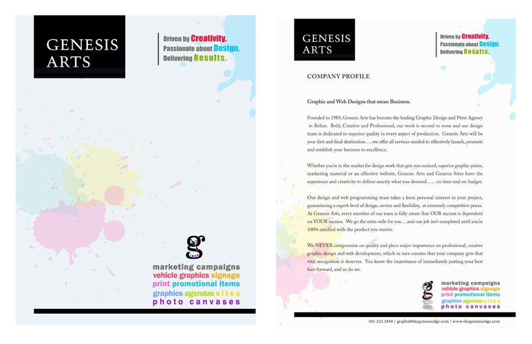 GENESIS ARTS MARKET BOOKLET JUNE 2015