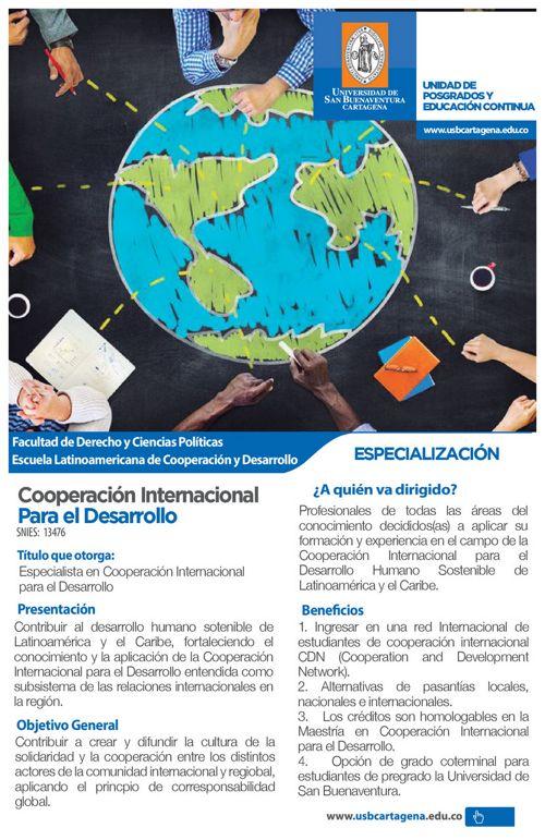 Volante especializacion en cooperacion internacional
