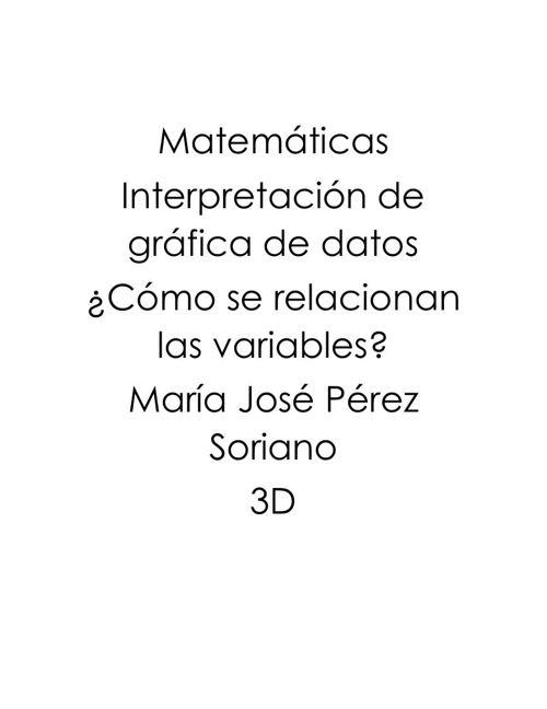 Matemáticas grafica