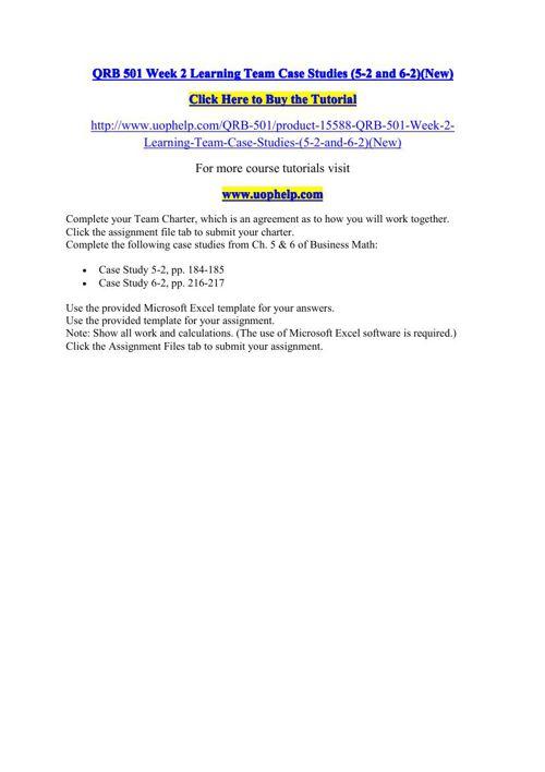 Qrb501 week1 problemset
