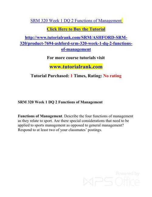 SRM 320 Potential Instructors / tutorialrank.com