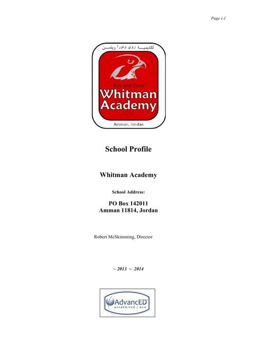 Whitman Academy Profile 2013-14-1