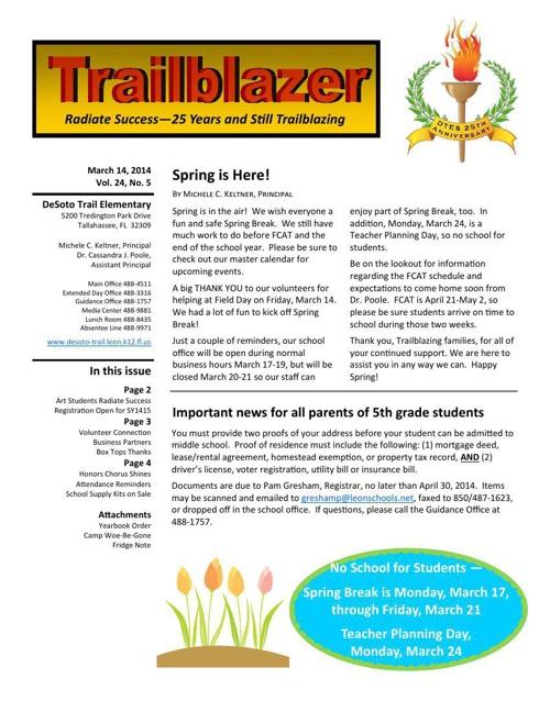 March Trailblazer Newsletter