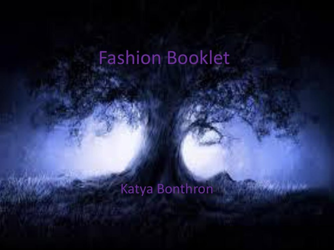 Fashion Booklet