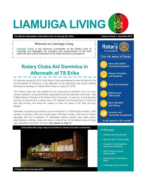 RCL Newsletter Vol 2 Iss 1 Dec 2015