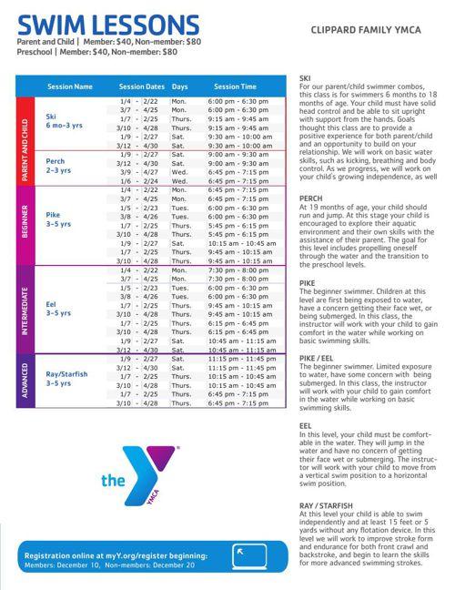 Clippard Family YMCA Program Guide