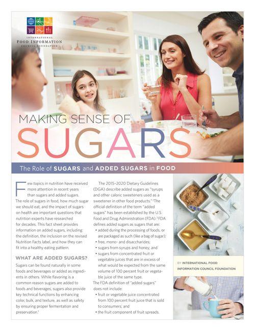 Making Sense of Sugars Fact Sheet
