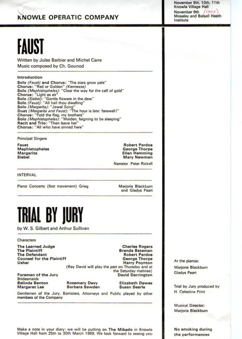 1967 Faust & Trial by Jury