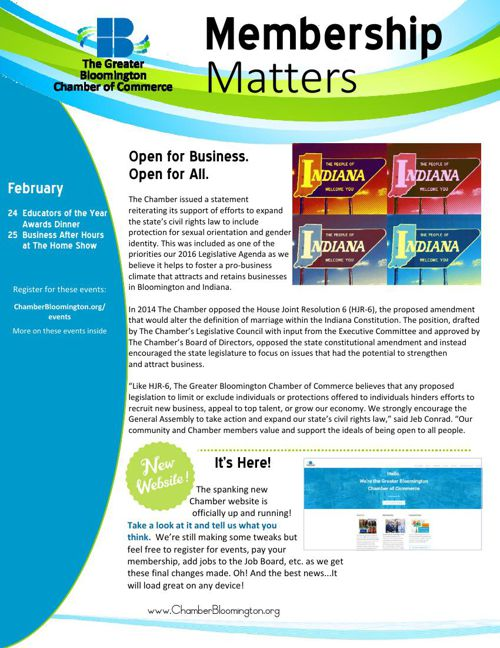 It's the February Issue of Membership Matters