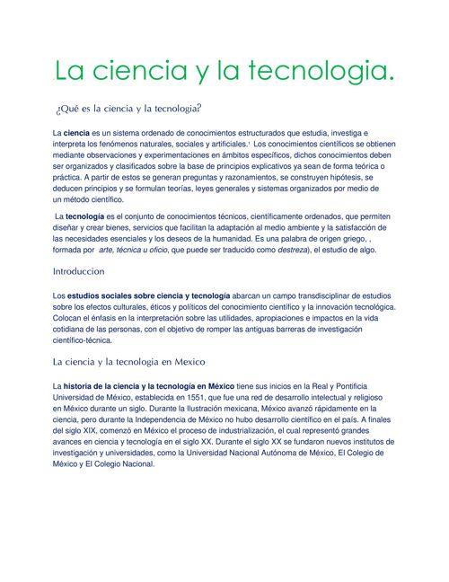 La ciencia y la tecnología 8