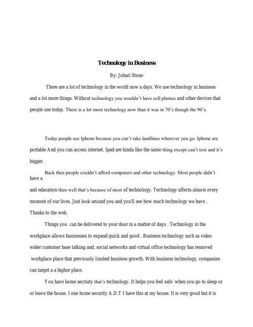 Technique Is Important pdf