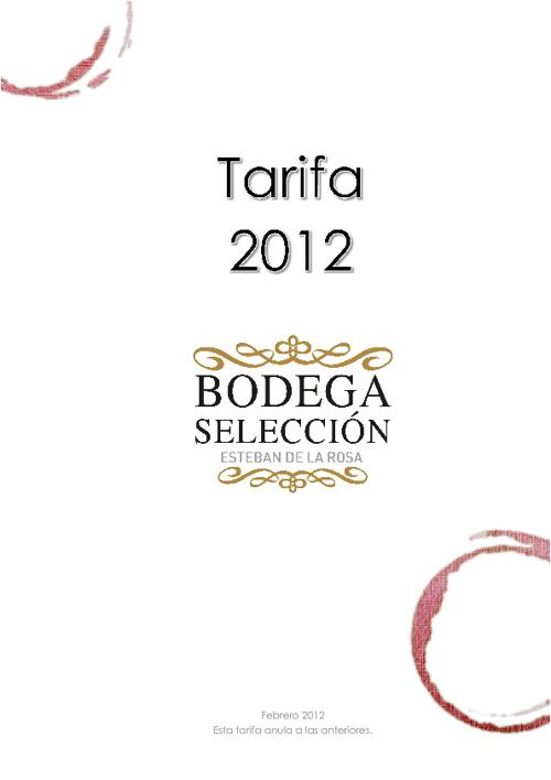 Tarifa Bodega Selección 2012