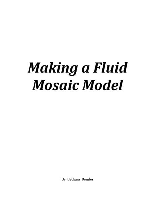 A Fluid Mosaic