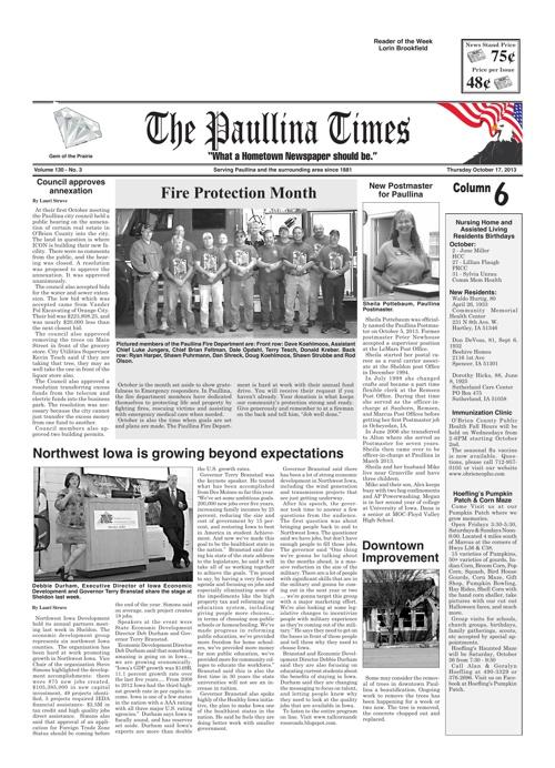 The Paullina Times Oct. 17, 2013