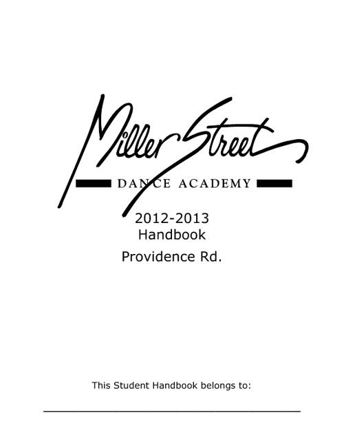 Providence Handbook 2012-13