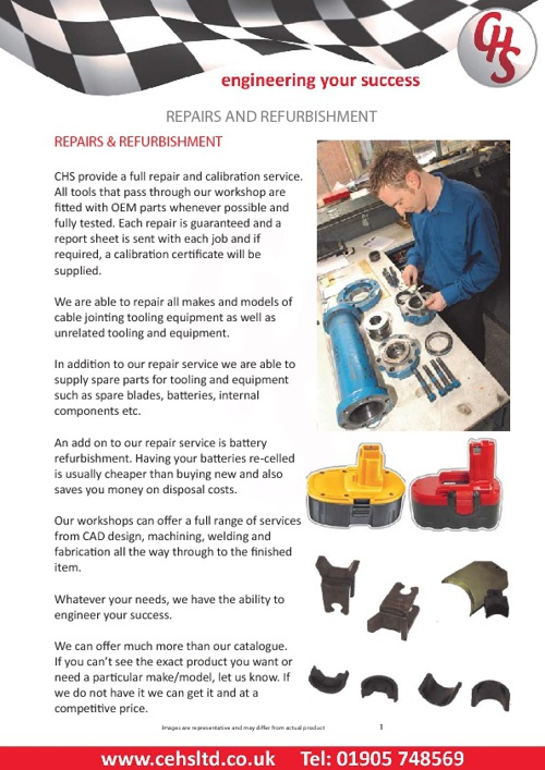 CHS Worcester Ltd,  Product Catalogue. Tel: +44 (0) 905 748569
