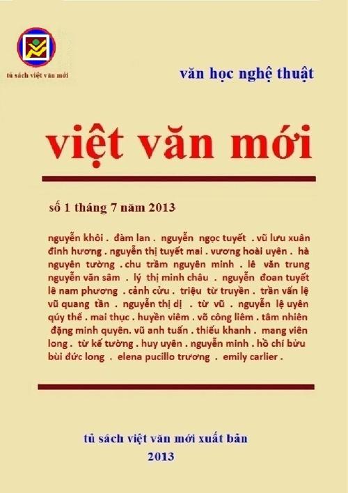 nguyệt san việt văn mới số 1 tháng 7 năm 2013