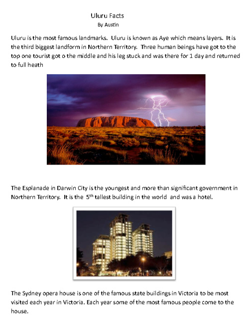 GEOGRAPHY RESOURCE BOOK –AUSTRALIA (3rd grade)