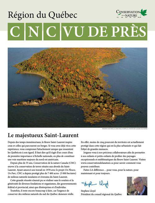 CNC Vu de près - Région du Québec