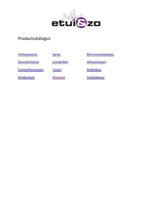 Productcatalogus