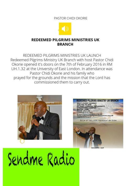 Redeemed Pilgrims Ministries UK Branch Newsletter