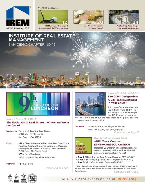 IREMSD July/Aug 2017 Newsletter