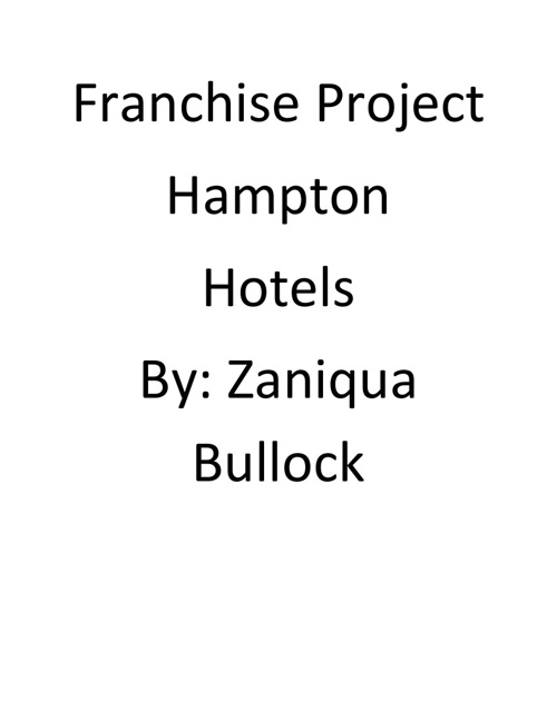 Copy of Franchise Project - Hampton Hotels
