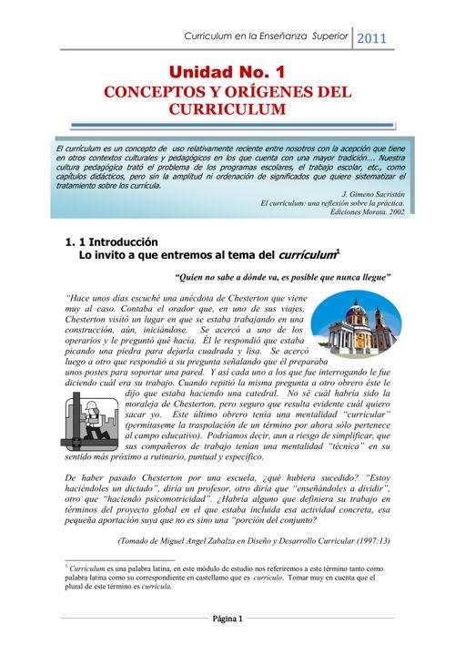 Curriculum.  Conceptualizaciones básicaspdf
