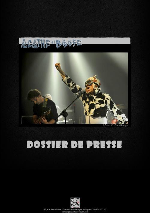 Dossier de presse Agathe Ze Bouse 13/10/2012