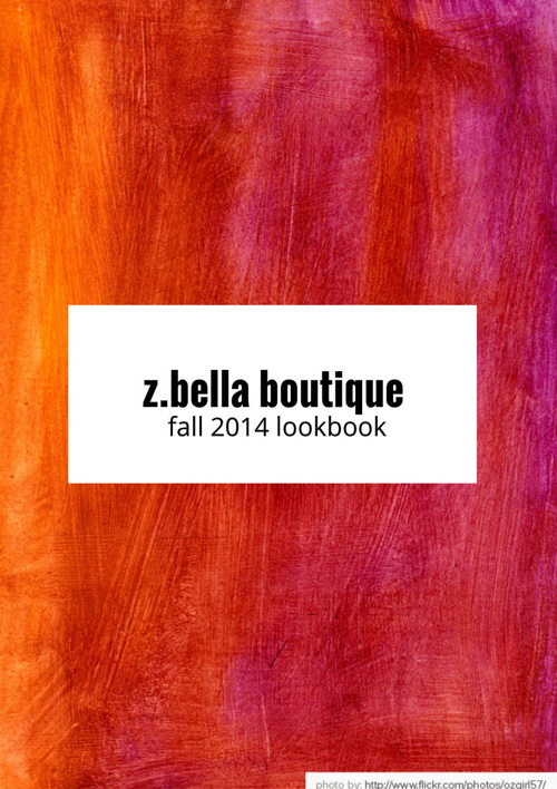 Z.Bella Boutique September 2014 Lookbook