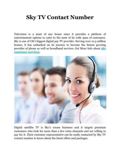 Sky TV Contact Number
