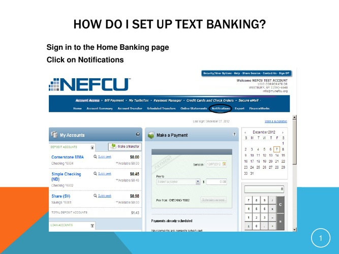 NEFCU Mobile Text Banking Guide