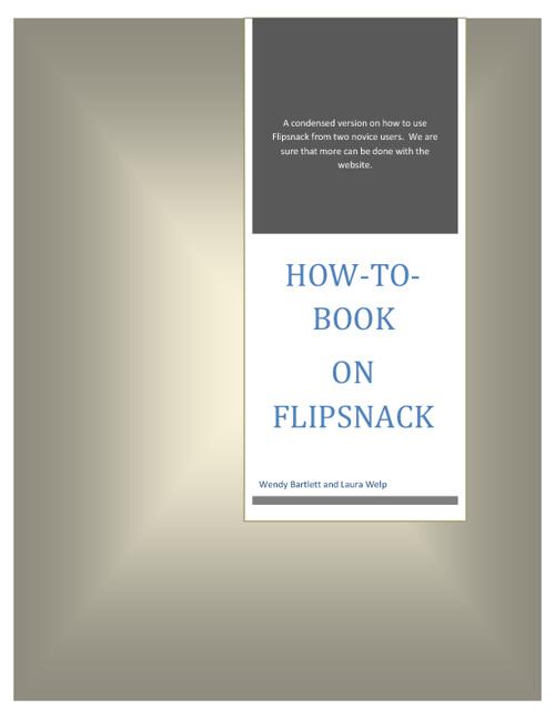 Flipsnack Instructions