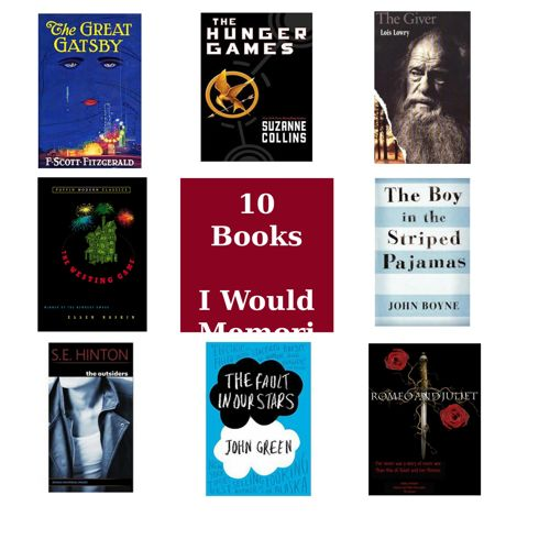 10 Book's I Would Memorize