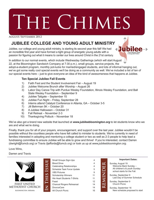 The Chimes: August-September 2012 Edition