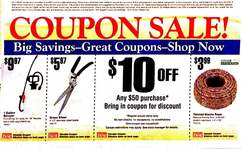 Hermann/New Haven Lumber Saving Dollars Coupon Sale