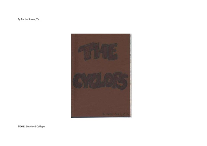 The Cyclops by Rachel Jones, TY.