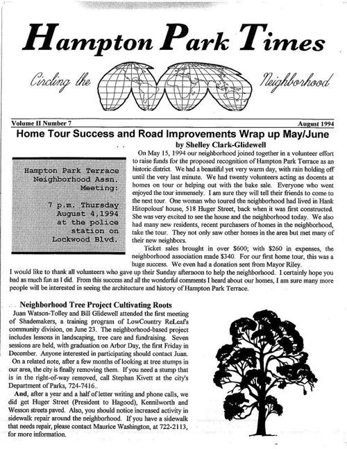 HPT Newsletter August 1994