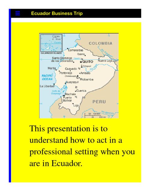 Ecuador Flyer