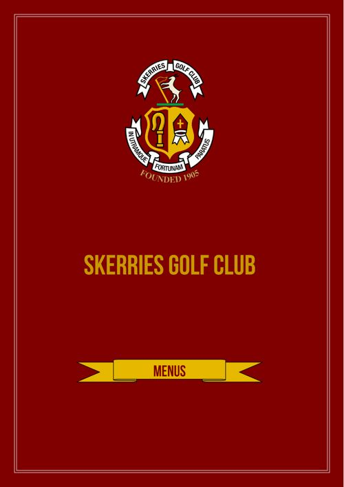 Skerries Golf Club Full Menu Listings