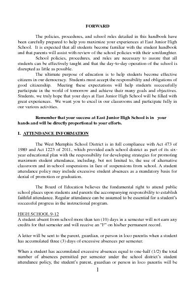 2012-2013 EJHS Student Handbook